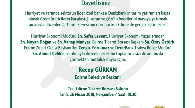EDİRNE'DE TARIM ZİRVESİ