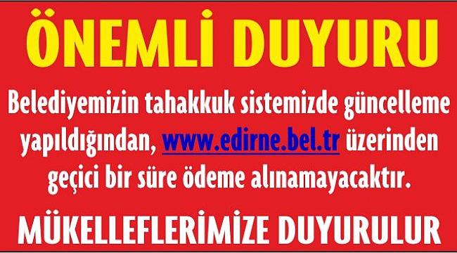 ÖNEMLİ DUYURU !
