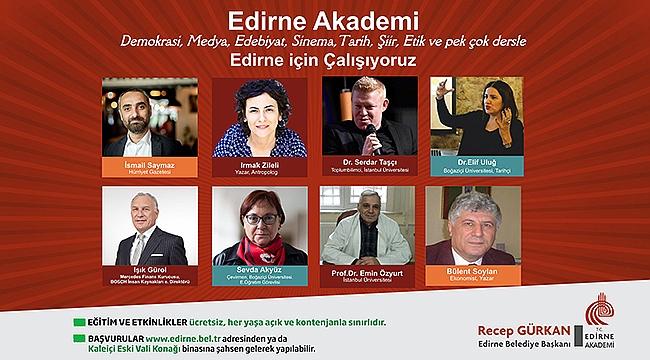 EDİRNE AKADEMİ'DE EĞİTİMLER BAŞLIYOR