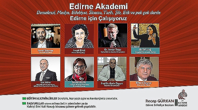 EDİRNE AKADEMİ'NİN 14-16 KASIM2018 TARİHLİ PROGRAMI