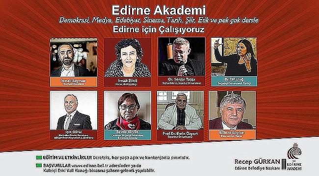 EDİRNE AKADEMİ'NİN 03-05 EKİM2018 TARİHLİ PROGRAMI