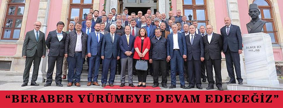 """""""BERABER YÜRÜMEYE DEVAM EDECEĞİZ"""""""