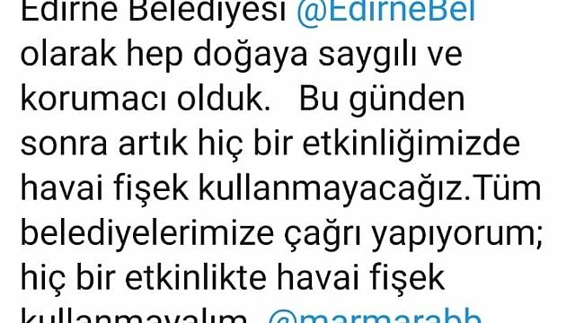 GÜRKAN'DAN HAVAİ FİŞEK KARARI