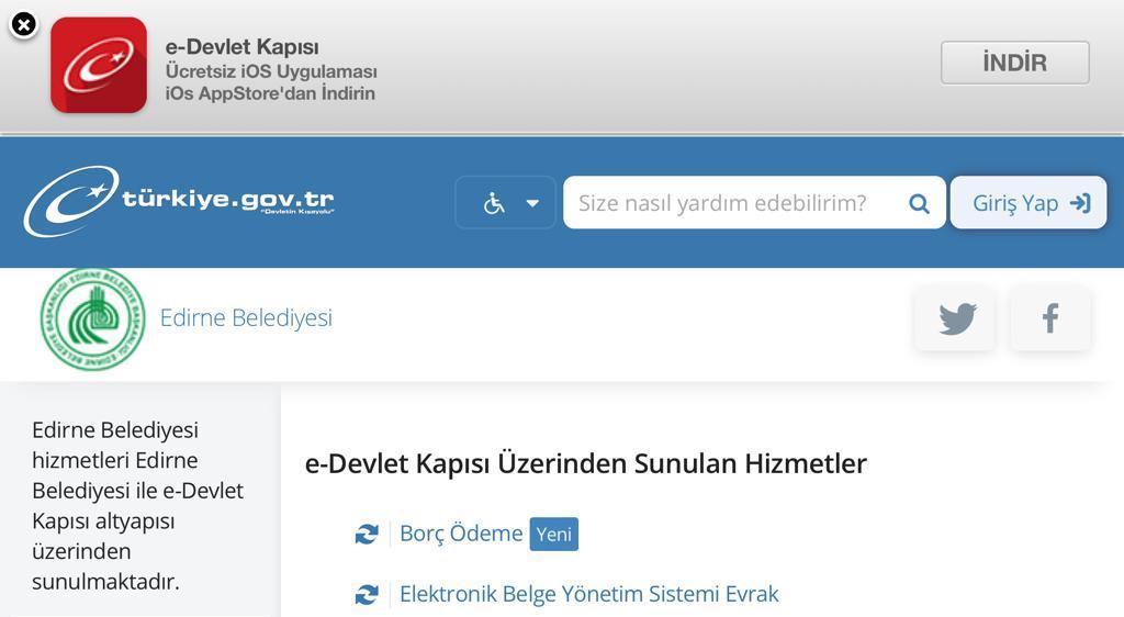 TÜM ÖDEMELER E-DEVLET KAPISINDA