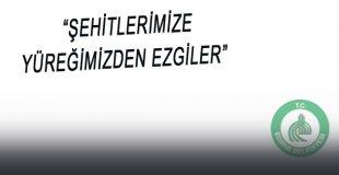 """""""ŞEHİTLERİMİZE YÜREĞİMİZDEN EZGİLER"""""""